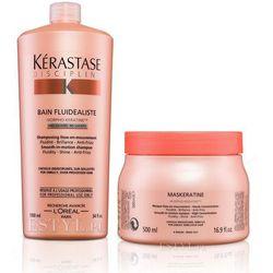 Kerastase Fluidealiste Zestaw dyscyplinujący włosy bezsiarczanowy   szampon 1000ml + maska 500ml