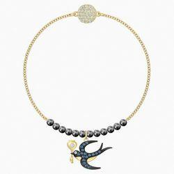 Łańcuszek z Kolekcji Swarovski Remix Swallow, wielokolorowy, w odcieniu złota
