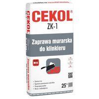 Zaprawy i szpachle, Zaprawa murarska do klinkieru ZK-1 Grafitowa 25 kg CEKOL