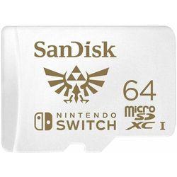 Karta pamięci microSDXC SanDisk 64 GB dedykowana do Nintendo Switch 100/60 MB/s