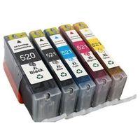 Tusze do drukarek, Komplet tuszy do Canon PIXMA iP 4700 MP 620 980 TD-PGI520/CLI521 CMYKPBK