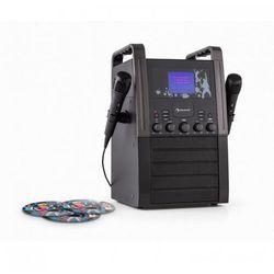 KA8B-V2 BK zestaw karaoke odtwarzacz CD AUX 2 x mikrofon3 CD + G do karaoke