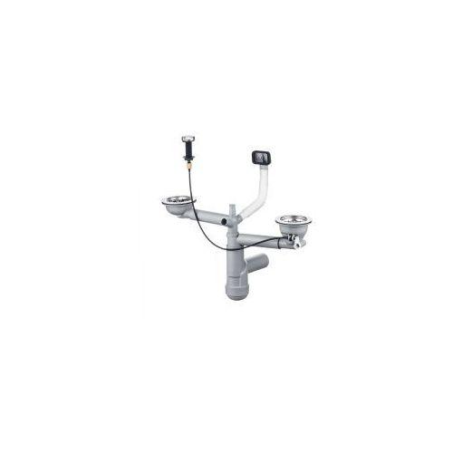 Deante Syfon Space Saver Lux do zlewozmywaków stalowych 1,5 i 2-komorowych 3,5 cala przelew w komorze ZXY 9914, ZXY 9914