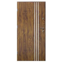 Drzwi zewnętrzne O.K.Doors Arte III Line 80 lewe złoty dąb