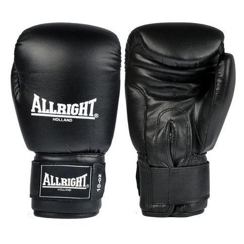 Rękawice do walki, Rękawice bokserskie skórzane Allright czarny