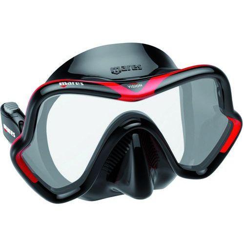 Maski, płetwy i fajki, Maska do nurkowania MARES One Vision Czarno-czerwony