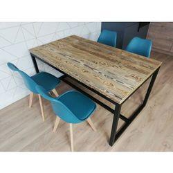Industrialny nowoczesny stół EVO 160/90 Stare drewno szczotkowane