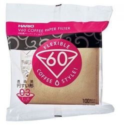 Hario filtry brązowe V60-03, 100szt. papierowe do dripa
