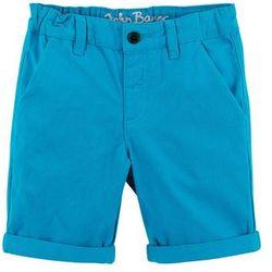 Bermudy z wywijanymi nogawkami bonprix niebieski capri