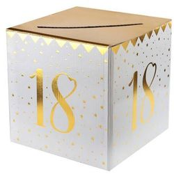 Pudełko na koperty z życzeniami, prezentami na 18-tkę - 1 szt.