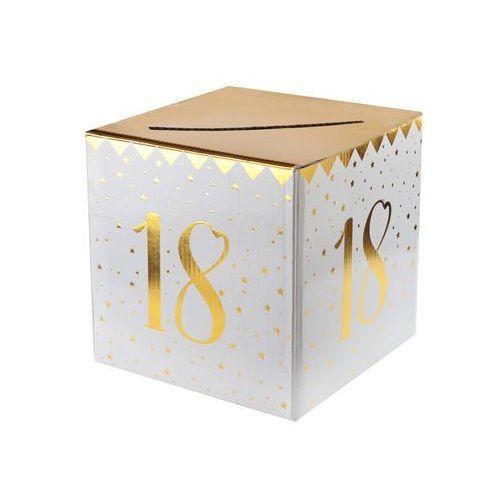 Ozdobne pudełka, Pudełko na koperty z życzeniami, prezentami na 18-tkę - 1 szt.