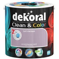 Satynowa farba lateksowa Dekoral Clean&Color wyróżniony róż 2 5 l
