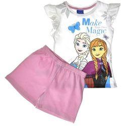 Piżama dla dzieci z krótkim rękawem Frozen Kraina Lodu Róż - Biały ||Pudrowy róż