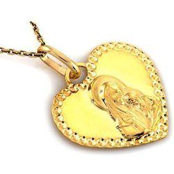 Zawieszka złota medalik serduszko - 0,96 g