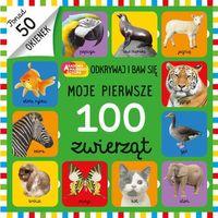Książki dla dzieci, Moje pierwsze 100 zwierząt - Praca zbiorowa (opr. kartonowa)