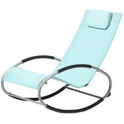 Krzesło ogrodowe błękitne tekstylne bujane CAMPO