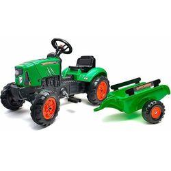 Falk traktor na pedały SuperCharger z platformą, zielony