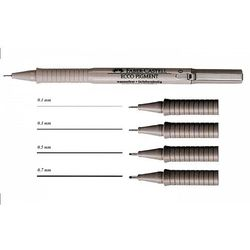 Cienkopis Ecco Pigment Faber-Castell 0,5mm czarny, 10szt. FC166599