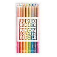 Kredki, Grube Neonowe kredki ołówkowe Jumbo Brights 8 sztuk