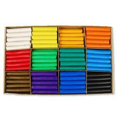 Plastelina zestaw dla przeszkolny 12 kolorów x 15 sztuk