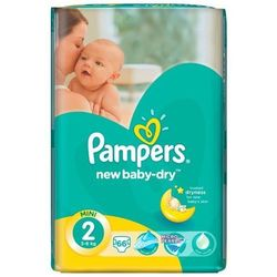 PAMPERS New Baby-dry pieluchy 2 Mini 66szt pieluszki
