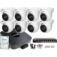 Zestawy monitoringowe, Monitoring zestaw do samodzielnego montażu BCS-NVR08015ME-II 8x Kamera BCS-DMIP1501IR-E-V 1TB