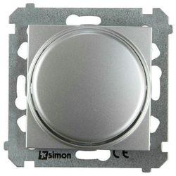 Ściemniacz przyciskowo-obrotowy SIMON 54 Srebrny KONTAKT SIMON