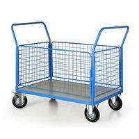 Wózki widłowe i paletowe, Wózek platformowy z 4 ścianami drucianymi, 1200x800 mm