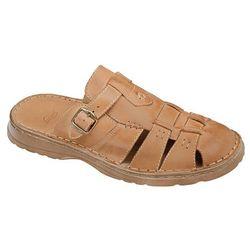 Klapki buty ŁUKBUT 962 Beżowe - Beżowy   Brązowy