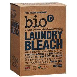 - BIO-D - Laundry Bleach - Ekologiczny Odplamiacz, Wybielacz, Eliminator Zapachów, mający właściwości antybakteryjne i odkażające. Usuwa plamy zarówno z białych, jak i z kolorowych tkanin. Nie zawiera chloru ani środków wybielających.