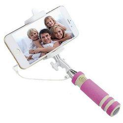 Selfie Stick Mini z Wyzwalaczem VIS - Różowy