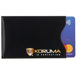 Etui RFID Protector Ochrona Kart Zbliżeniowych Bezpieczne Karty NFC - Czarny