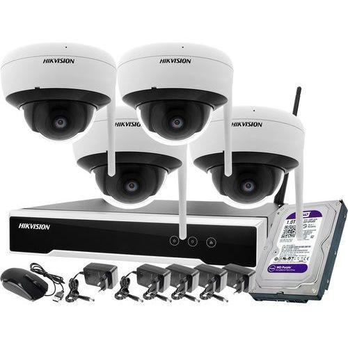 Zestawy monitoringowe, ZM11990 Monitoring zestaw bezprzewodowy Hikvision 4 kamery WiFi 4Mpx 1TB