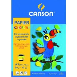Blok z papierem kolorowym Canson A3/10k. 80g