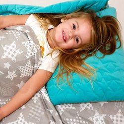 Śpiworek przedszkolaka duże gwiazdy velvet wiosenno letni + worek
