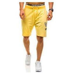 Krótkie spodenki dresowe męskie żółte Denley 4449