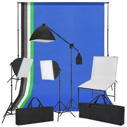 vidaXL Zestaw do studia ze stołem fotograficznym, lampami i tłami Darmowa wysyłka i zwroty