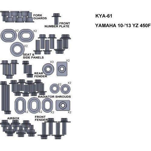 Pozostałe akcesoria do motocykli, ZESTAW ŚRUB KEITI DO YAMAHA 10-13 YZ450F