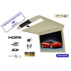 "NVOX RF173HDMI BE Monitor podwieszany podsufitowy LCD 17"" cali LED FULL HD HDMI USB SD IR FM"