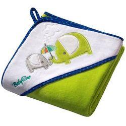 BabyOno Okrycie kąpielowe WELUR z kapturkiem 76x76 cm: Kolor - Zielony