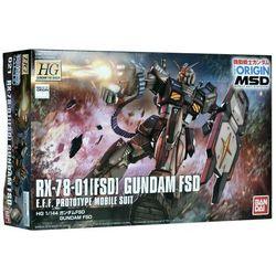 Figurka kolekcjonerska BANDAI Rx-78-01 Gundam Fsd (Od 9 lat)