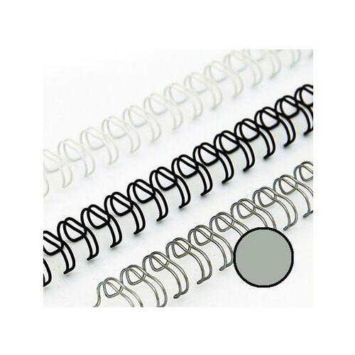 Grzbiety do bindownic, Grzbiety drutowe 4.8 mm, oprawa do 15 kartek, srebrne