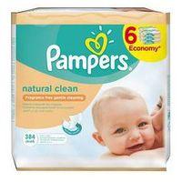Chusteczki dla niemowląt, Ściereczki Pampers Naturally Clean 6 x 64szt.