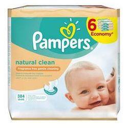 Ściereczki Pampers Naturally Clean 6 x 64szt.