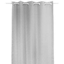 Zasłona okienna szara w srebrne gwiazdki - 140 x 260 cm