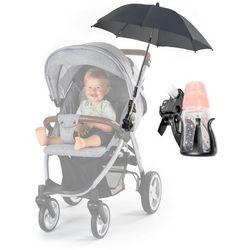 Parasolka UV50+ do wózka + uchwyt na butelkę REER - czarny