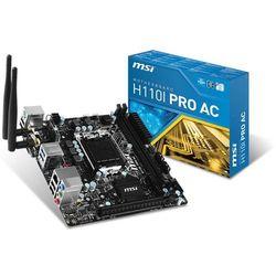 Płyta główna MSI H110I PRO AC, H110, DualDDR4-2133, SATA3, M.2,HDMI, DVI, USB 3.1, mITX Darmowy odbiór w 21 miastach!