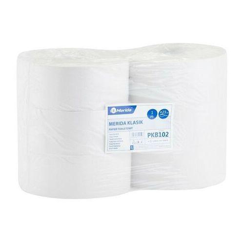 Papier toaletowy, Papier toaletowy Merida Klasik, 1 warstwa, makulatura - 6 rolek