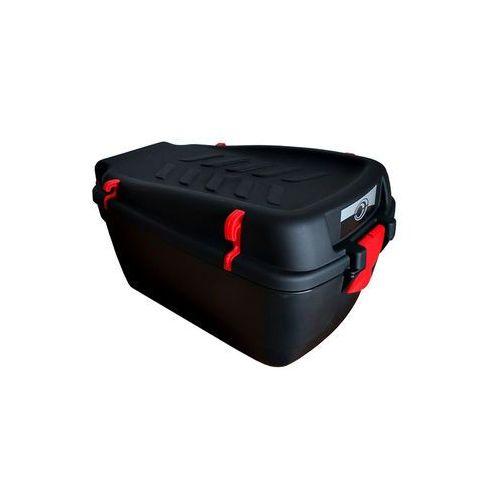 Bagażniki rowerowe do samochodu, Kufer na bagażnik CARGO duży czarny-uchwyty czerwone