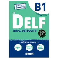Książki do nauki języka, Delf b1 100% reussite podręcznik + zawartość online nowa formuła 2021 (opr. miękka)